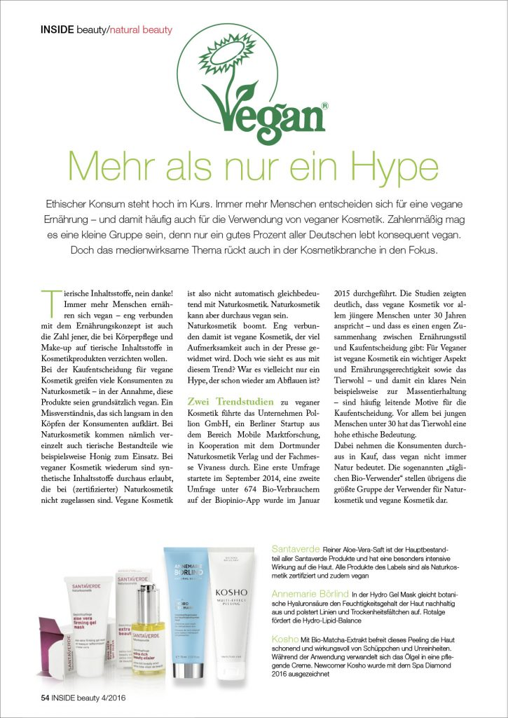 Kosho Cosmetics in der INSIDE beauty