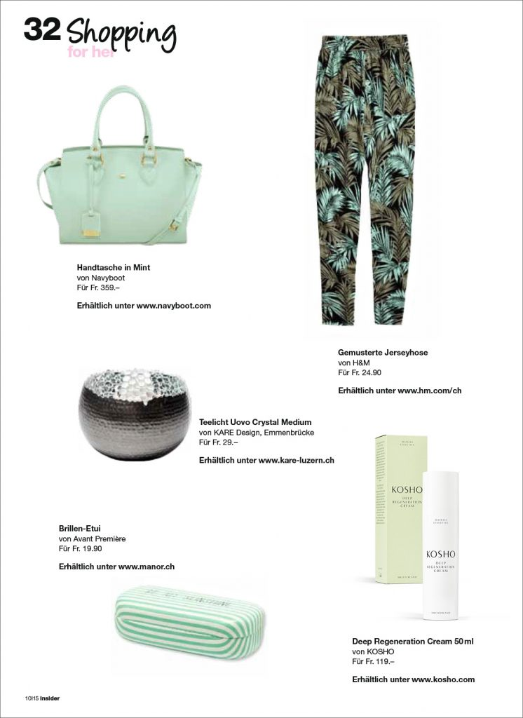 Kosho Cosmetics im Insider