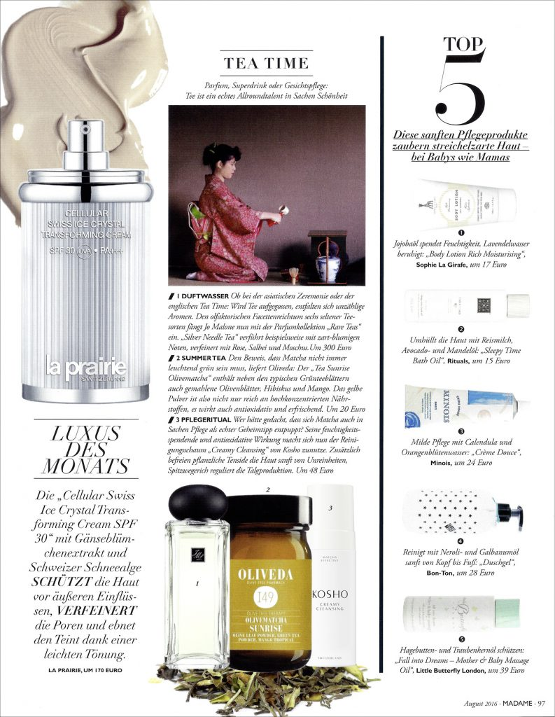 Kosho Cosmetics in der Madame