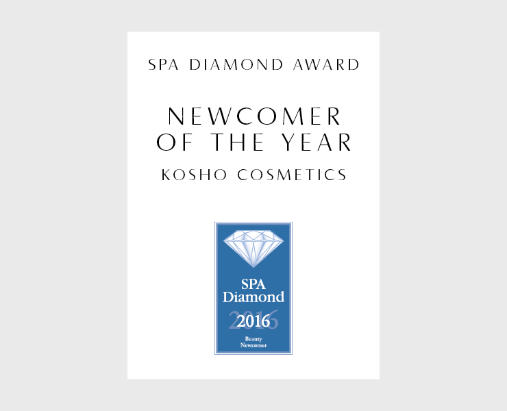 "Kosho Cosmetics gewinnt den SPA Diamond Award als ""Newcomer of the Year"""