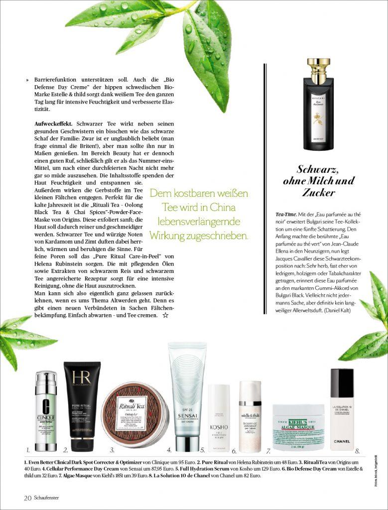 Kosho Cosmetics im Schaufenster von Die Presse
