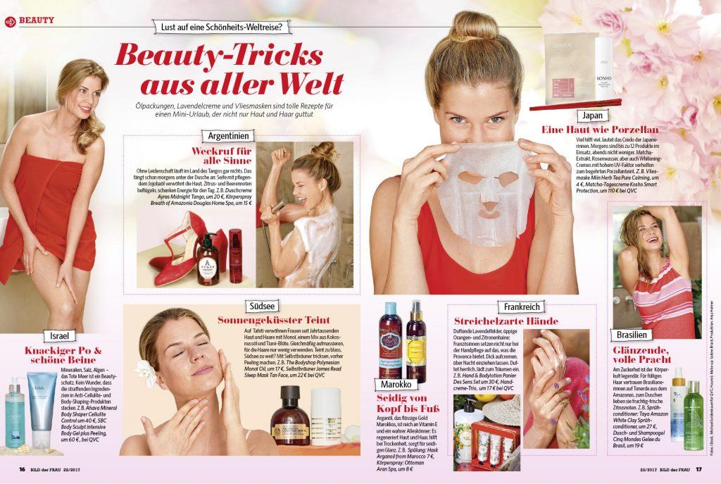 Kosho Cosmetics in der Bild der Frau