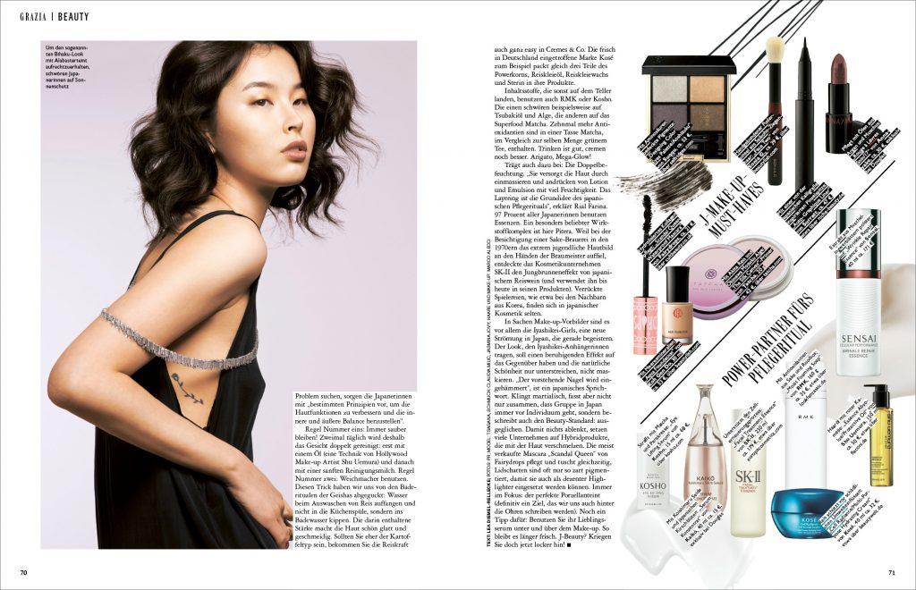 Kosho Cosmetics in der Grazia
