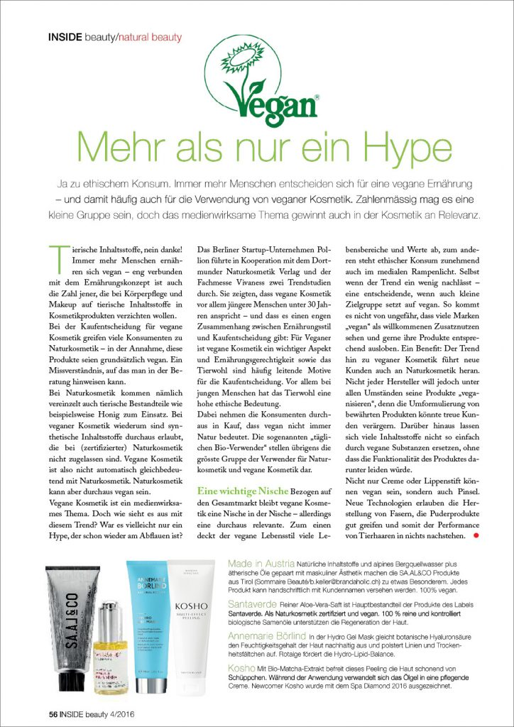 Kosho Cosmetics in der INSIDE beauty Schweiz