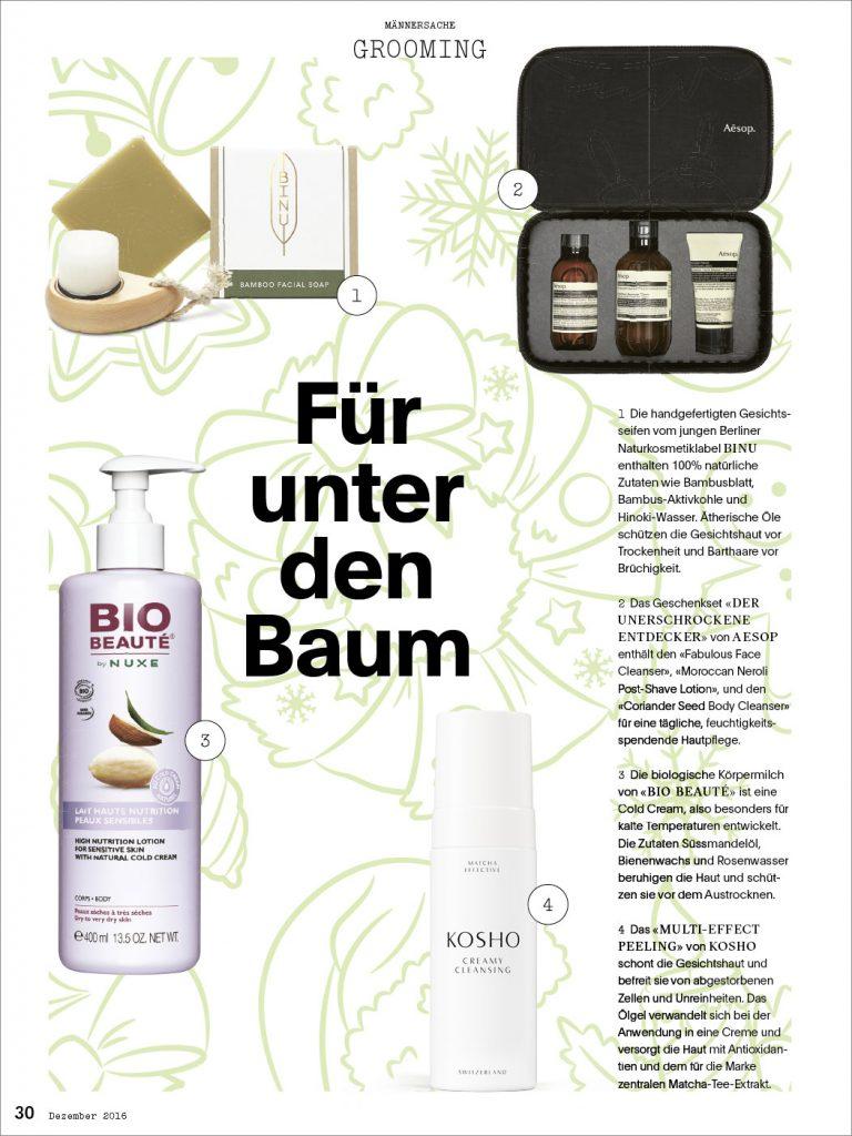 Kosho Cosmetics im Mannschaft Magazin