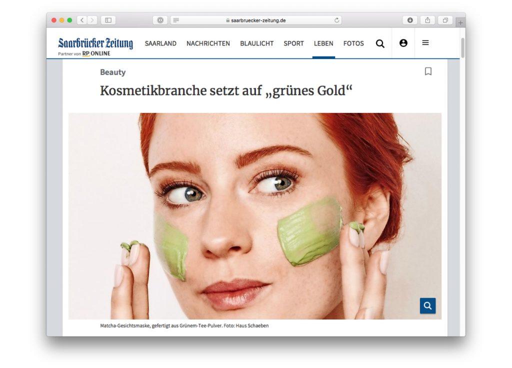 Kosho Cosmetics in der Saarbrücker Zeitung