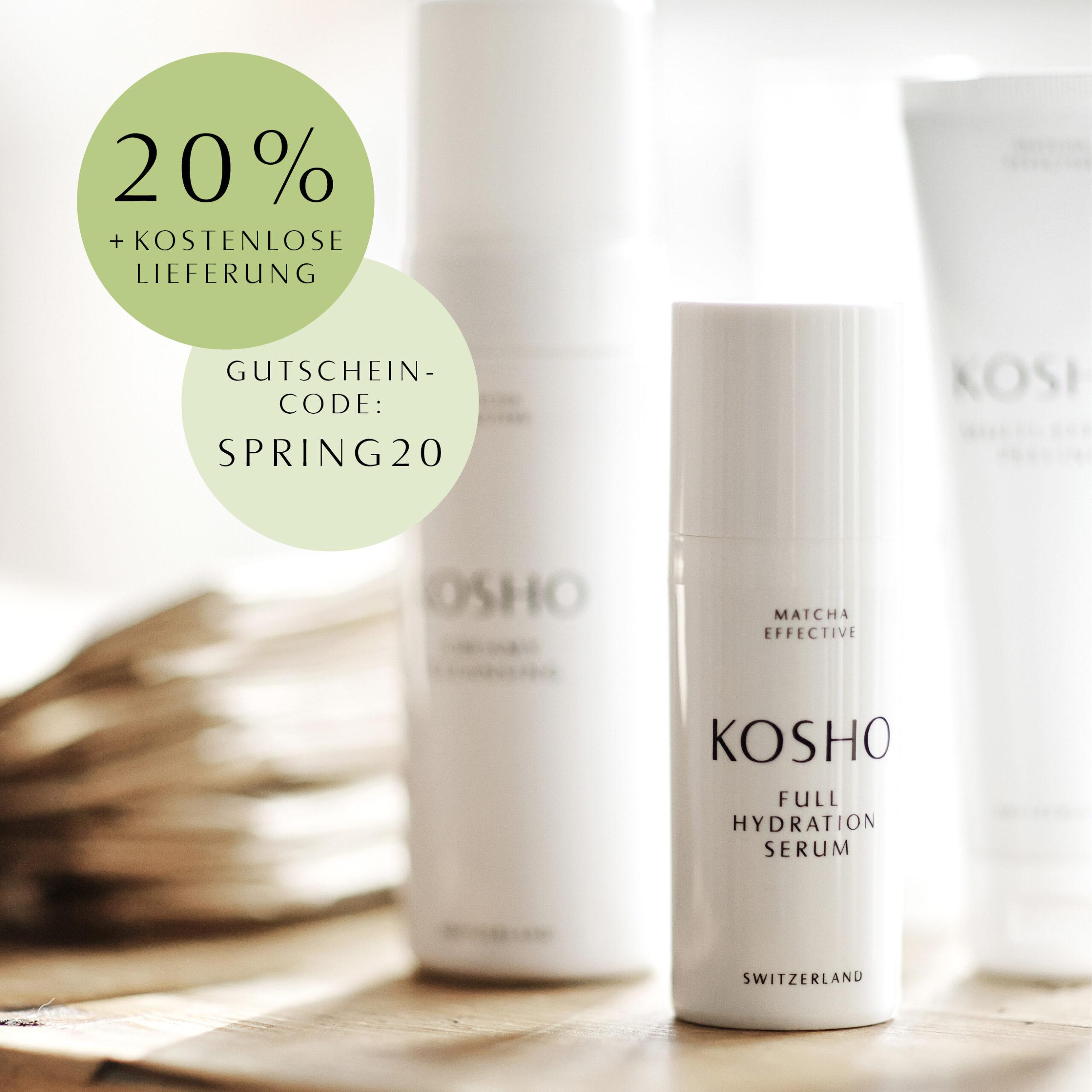 Kosho Cosmetics: 20% Rabatt und kostenlose Lieferung