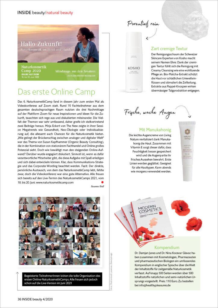 Kosho Cosmetics in der INSIDE beauty: Creamy Cleansing