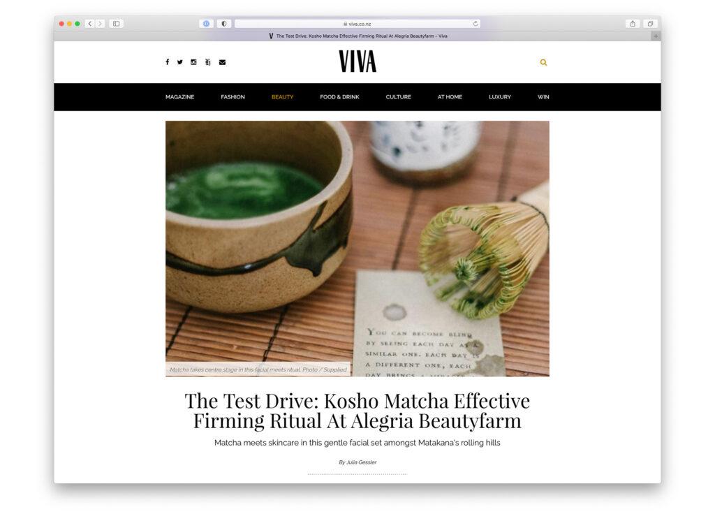Kosho Cosmetics bei New Zealand Herald VIVA